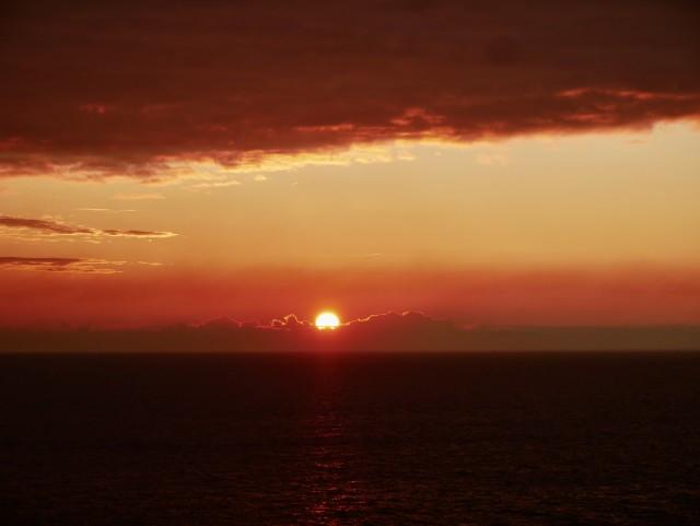 Blaue Reise - Sonnenuntergang