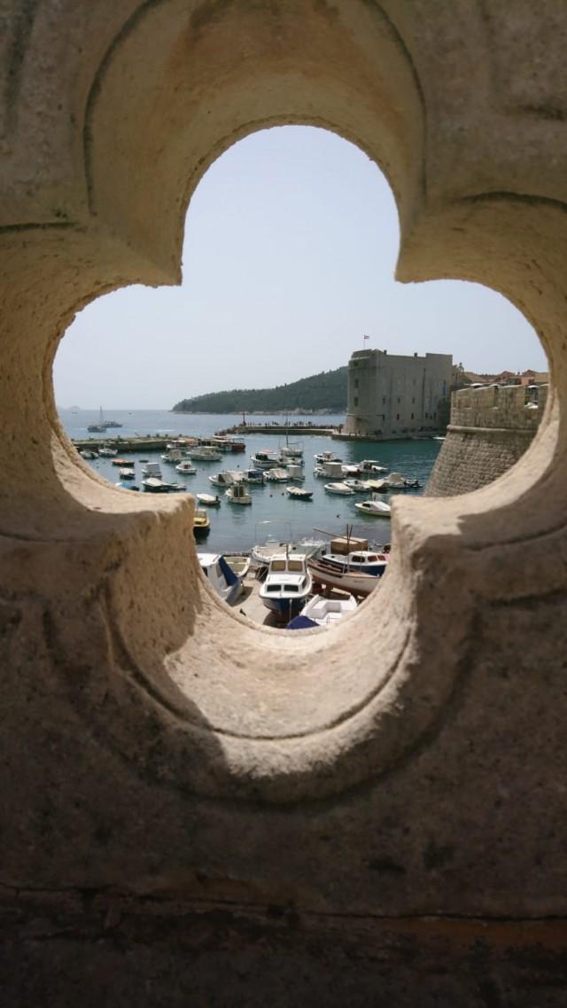 Blick auf den Bootshafen