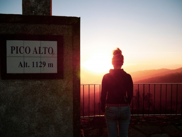 Sonnenuntergang auf dem Pico Alto