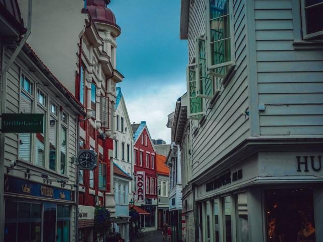 die alten Gebäude in Stavanger