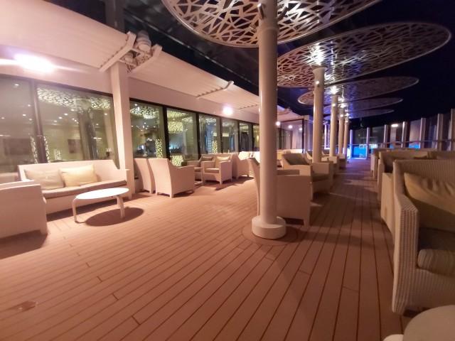AIDA Lounge bei Nacht