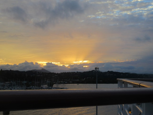 Sonnenuntergang über Korfu