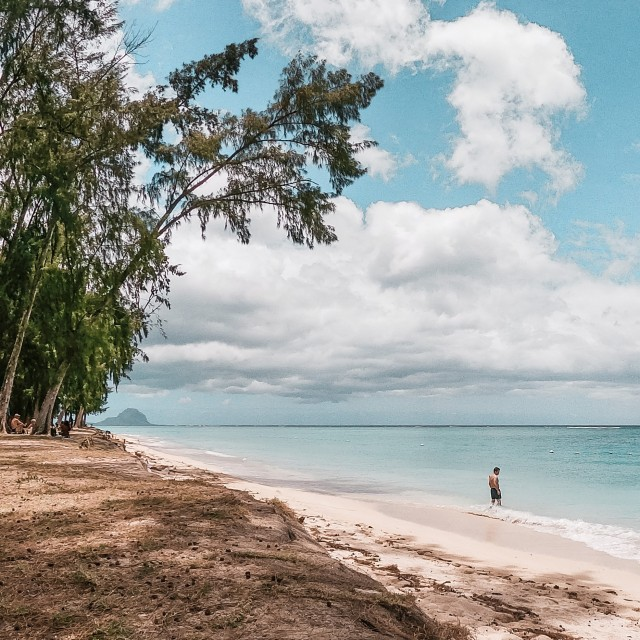 Strand mit Blick auf LeMorne