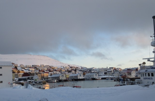 Honningsvåg im Winter
