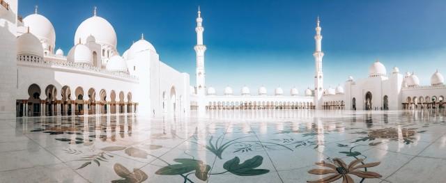 Im Inneren der Scheich-Zayid-Moschee