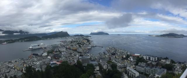 Panorama-Ansicht von Alesund