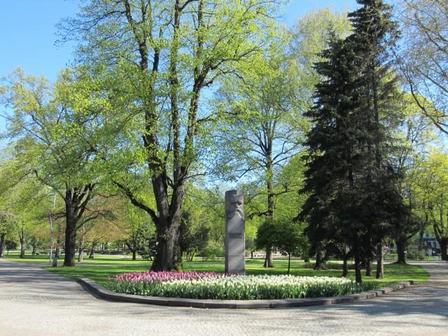 Barons-Denkmal im Vermanes-Park