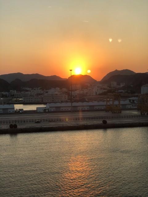 Sonnenuntergang über Maskat