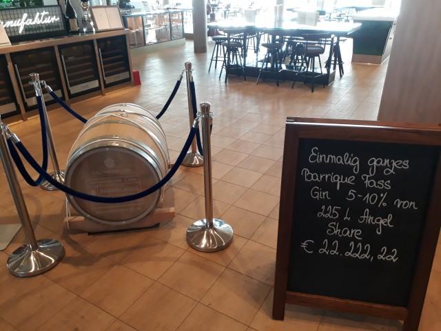 Gin-Fass für 22.222 Euro