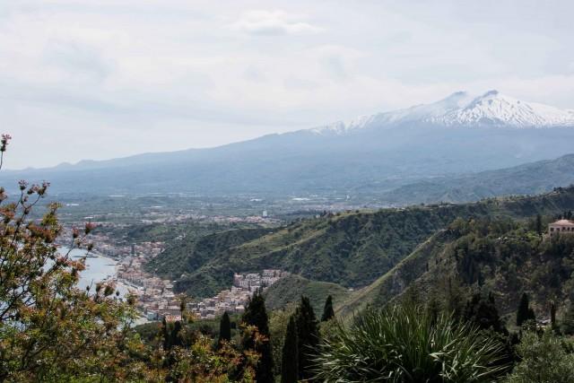 Wunderschöne Aussicht über Catania
