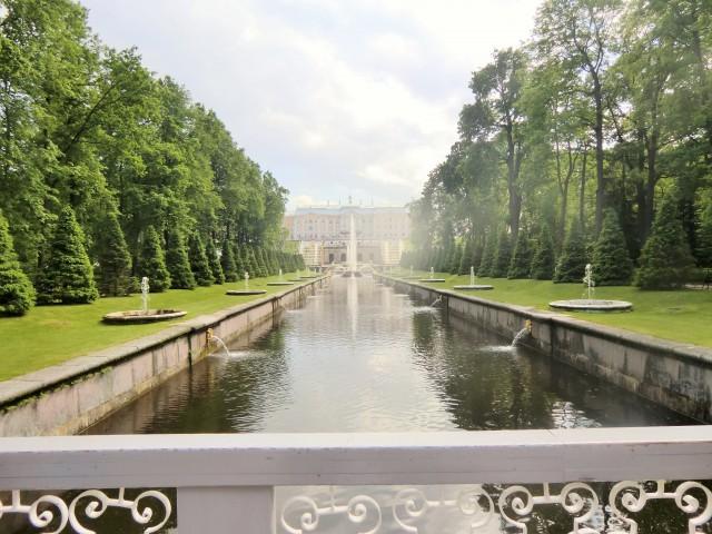 Parkanlage mit Blick auf den Katharinenpalast