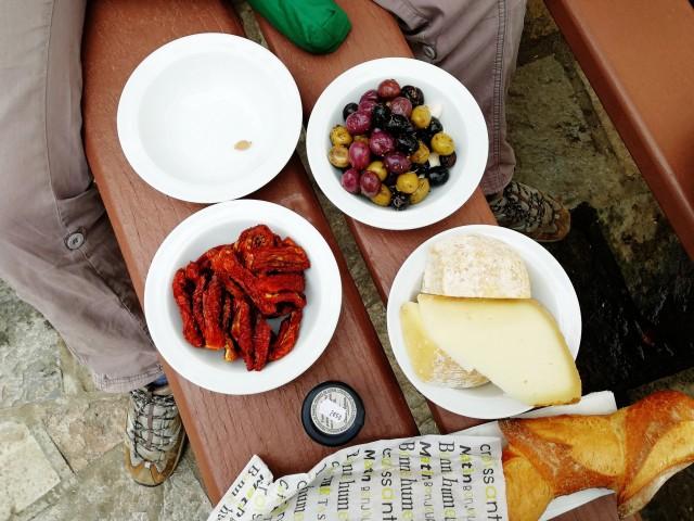 Mittagessen auf französische Art