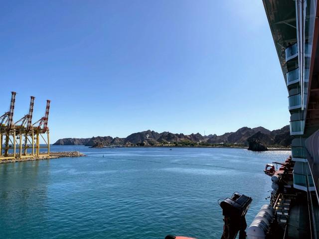 Ausblick im Hafen von Muskat
