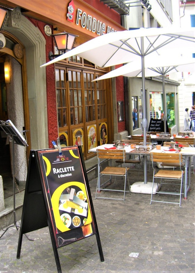 Schweizer Raclette in Luzern