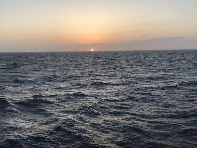 Sonnenuntergang von AIDA prima aus