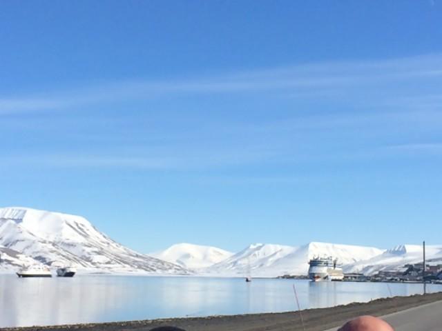 Sonne in Spitzbergen