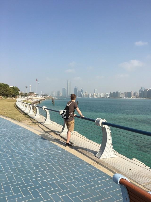 Blick auf die Skyline von Abu Dhabi