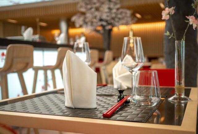 Gedeckter Tisch im Sushi House