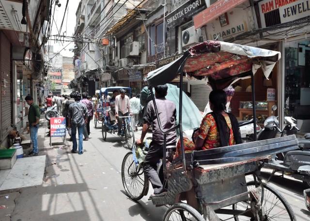 Die Straßen von Neu-Delhi