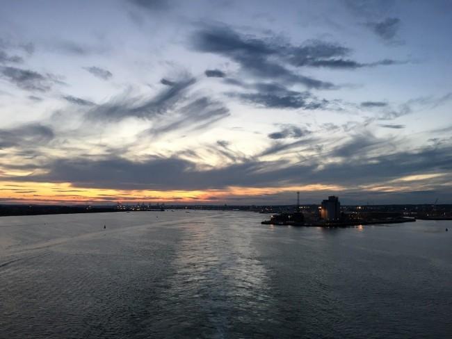 Auslaufen aus Southampton