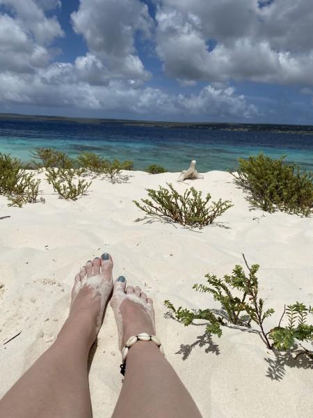 Aussicht auf Klein Bonaire