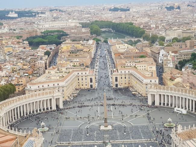 Vatikanstadt aus der Vogelperspektive