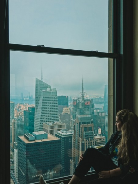 Aussicht auf New York im Rockefeller Center