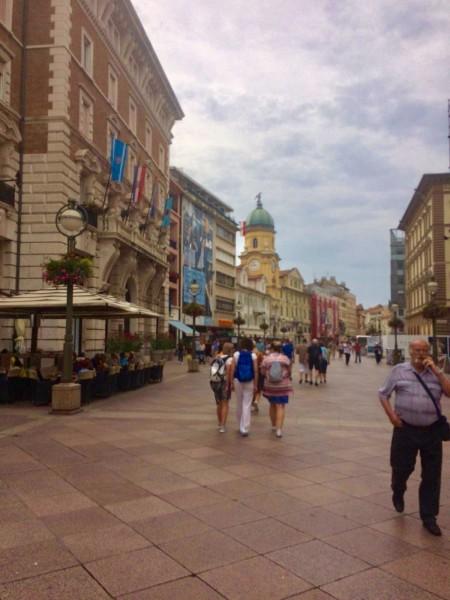 Rijeka am Feiertag