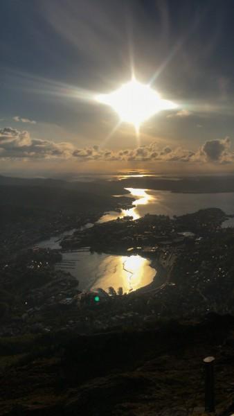 Blick über Bergen